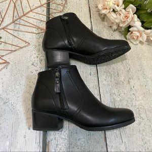 Blondo 6W ankle boots black leather waterproof zip